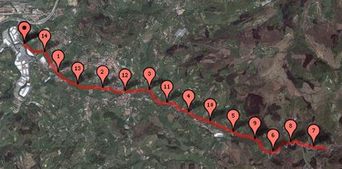 Bidegorri Oiartzun - Pincha para ver la ruta